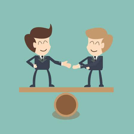 Negotiating  buisness equality  - concept