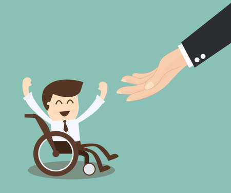 wheelchair: Employment Opportunity for the Disabled - businessman in wheelchair