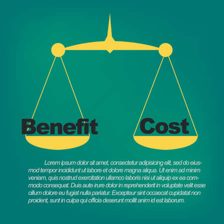 Weight Scale: Benefits compared to costs Illustration