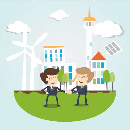 windpower: Environmental Sustainability Business concept