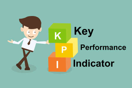 key performance indicator (kpi) concept Vector