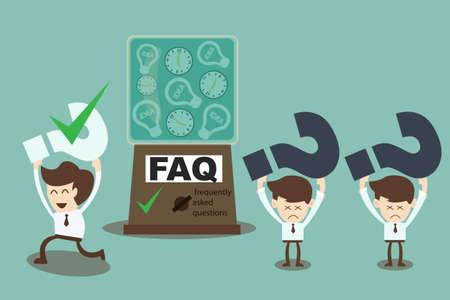 よくあるご質問 cocnept - 機械頻繁に答える質問  イラスト・ベクター素材