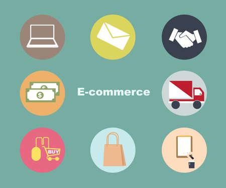 e commerce icon: e commerce set  icon