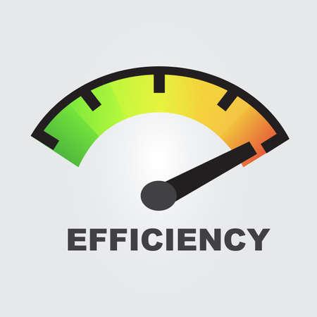 efficiency gauges concept Vector