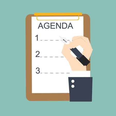 agenda list Ilustracja