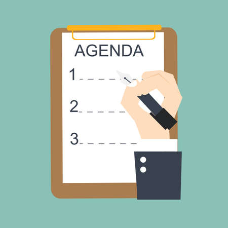 agenda list Illustration