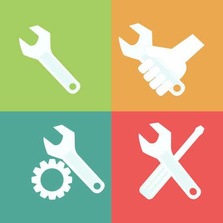 herramientas de mecánica: Herramientas icono Vectores