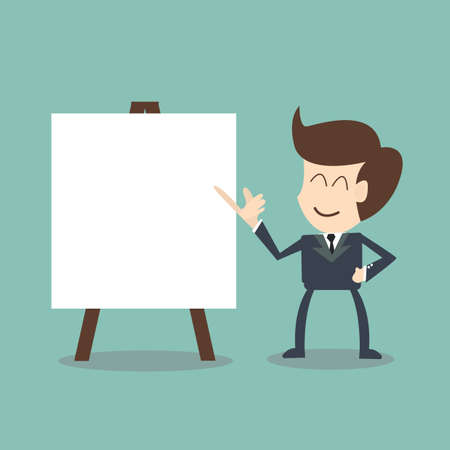 businessman with flip chart  Vector