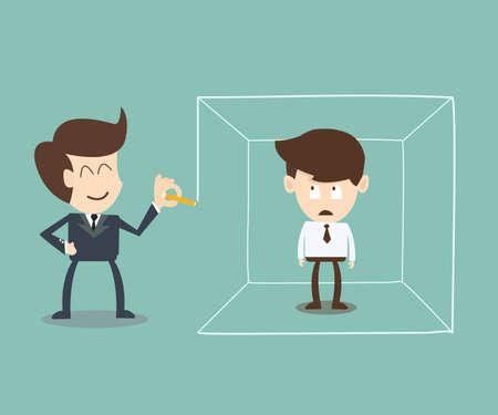 incarceration: �rea definida del hombre de negocios el concepto de idea