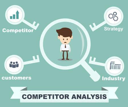 경쟁사 분석 개념 일러스트