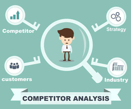 competitors: competitor analysis concept