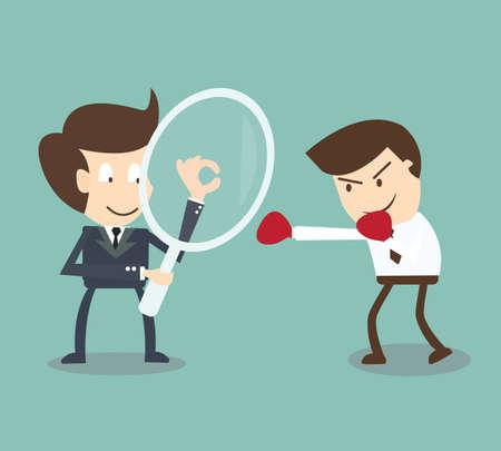 ビジネスマンの競合他社の分析