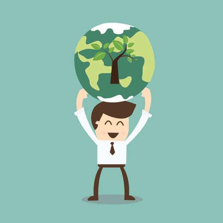 responsabilidad: La responsabilidad social corporativa Vectores