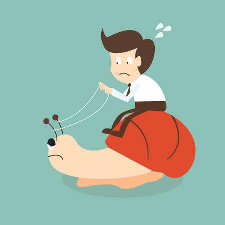 Biznesmen ślimak Ilustracje wektorowe