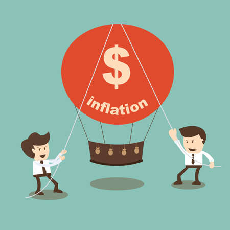 Businessman stabilize inflation Vector