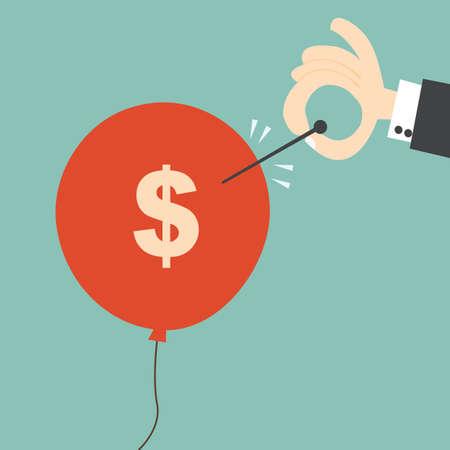 バブル - 金融危機概念は今にも  イラスト・ベクター素材