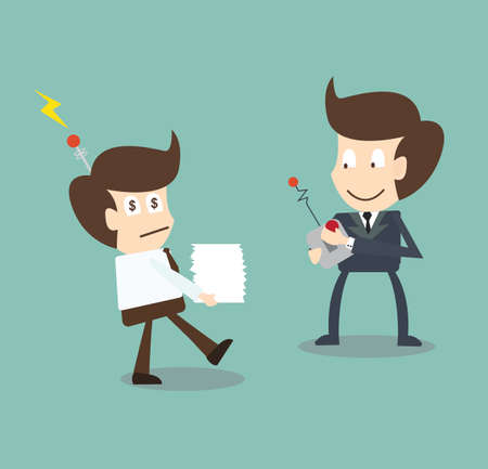 remote control: Boss control businessman Illustration
