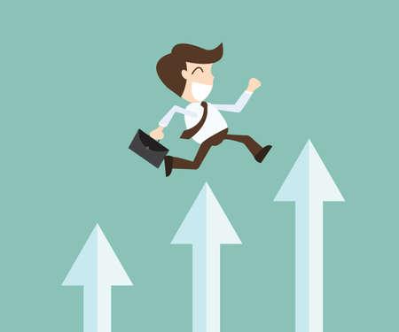 비즈니스에서의 성공 - 자기 개발 일러스트
