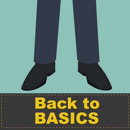 tarmac: Back to Basics on front of business man feet