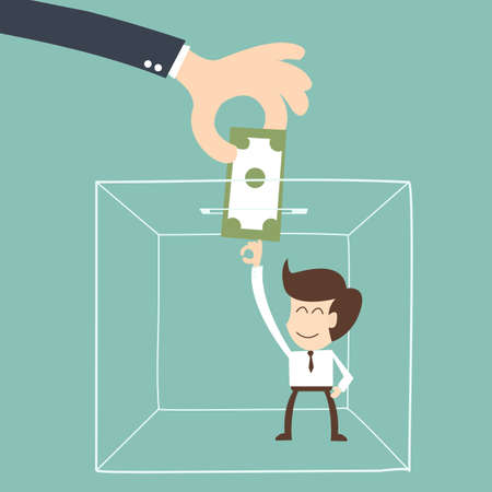 salary man: Comfort zone  concept - Salary man Illustration