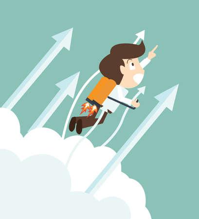businessman start up concept Illustration