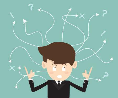 비즈니스에서 어려운 선택의 개념 일러스트