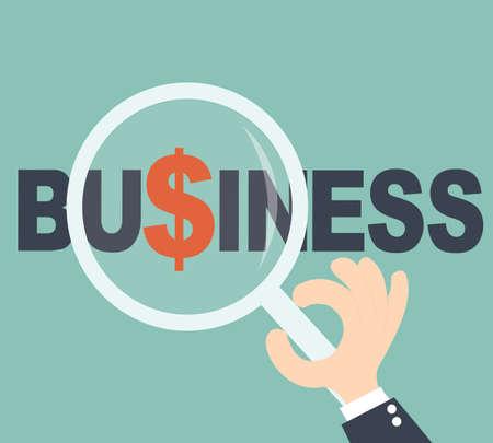 business focus: Focus profit concept - Hand searching business