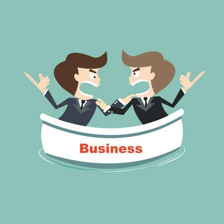 argumentation: opposites business on risk Illustration