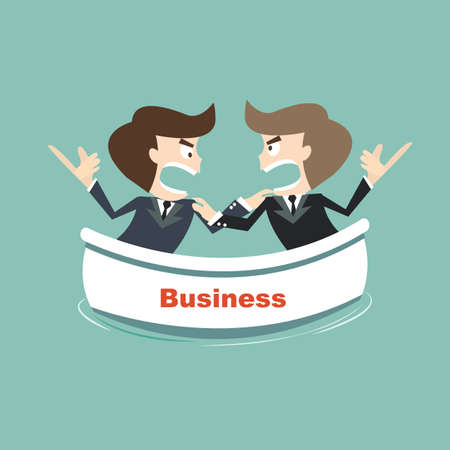 opposites business on risk Illustration