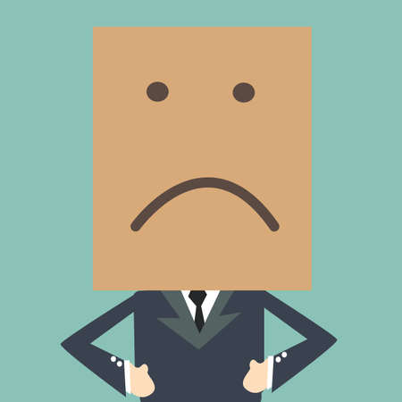 shame: Business man have a bad mood