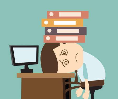 仕事のストレス  イラスト・ベクター素材