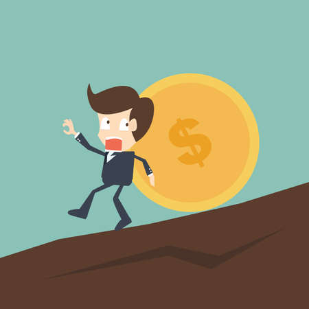 economical: Concept of Saving money due to crisis Illustration