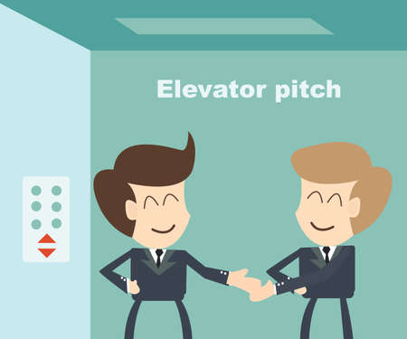 elevator: Elevator pitch concept Illustration