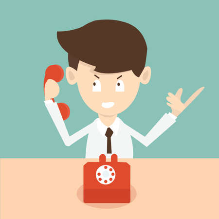 calling on phone: businessman with phone - cold calling