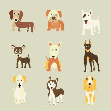 golden retriever: Set of Dogs icons