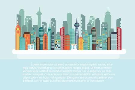 bangkok city: cityscape - Flat design Illustration