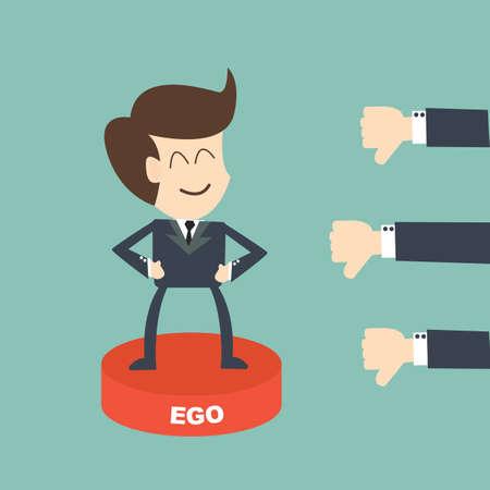ego businessman concept