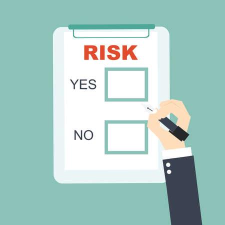 사업 위험에 대한 선택 일러스트