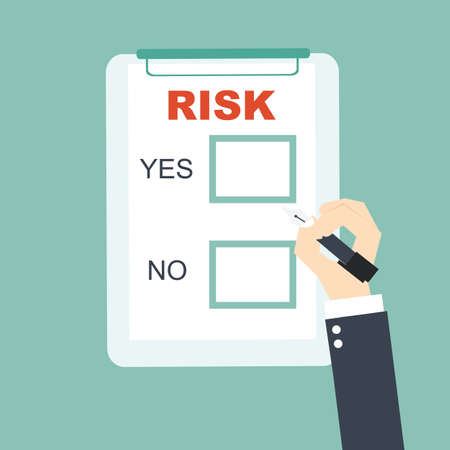 choice to business risk Vector
