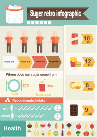 sugar of infographic Vectores