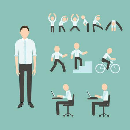 Office Exercises Stock Illustratie
