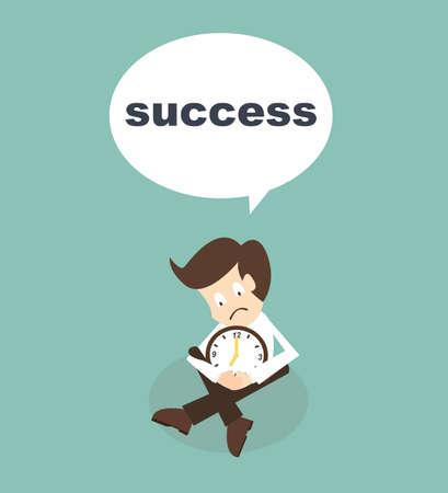 businessman wait time for success