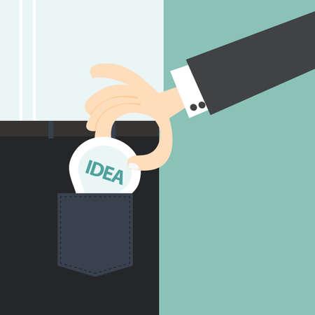back pocket: hand stealing a businessman idea from back pocket