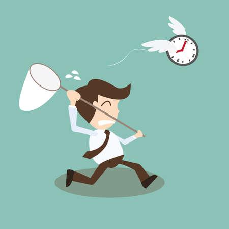 시간을 쫓는 사업가 - 시간과 조수가 사람을 기다립니다. 일러스트