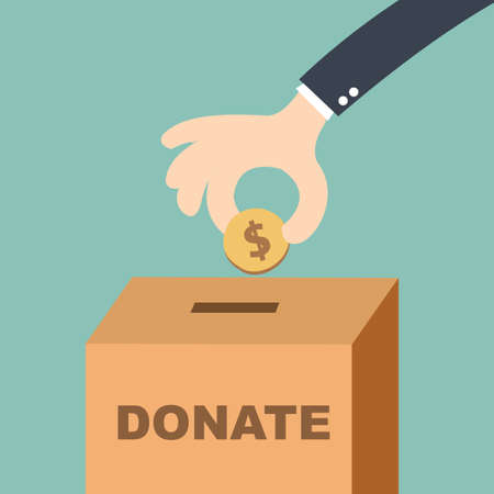 Donate Money and Charity Concept