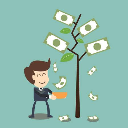 interest  and dividend concept Illustration