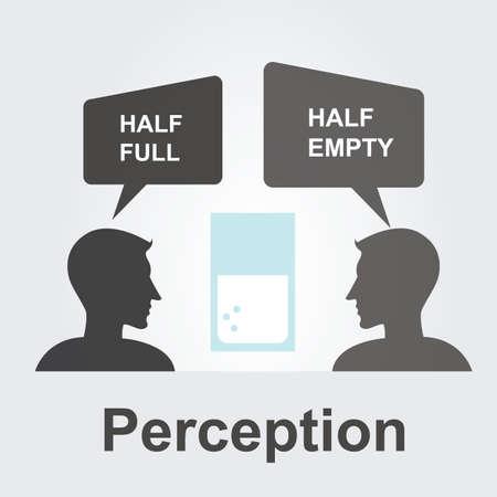 perceptie: Perceptie-concept Stock Illustratie