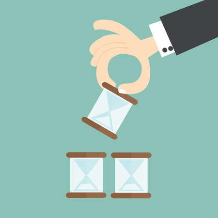 management concept: concepto de gesti�n del tiempo Vectores