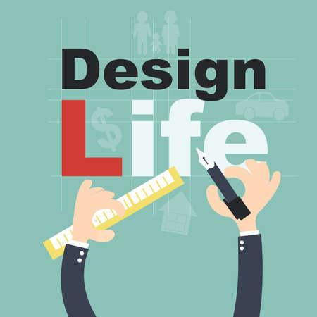 smart goals: Design your life - Plan life  concept