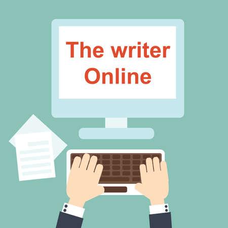 writer: the writer online Illustration